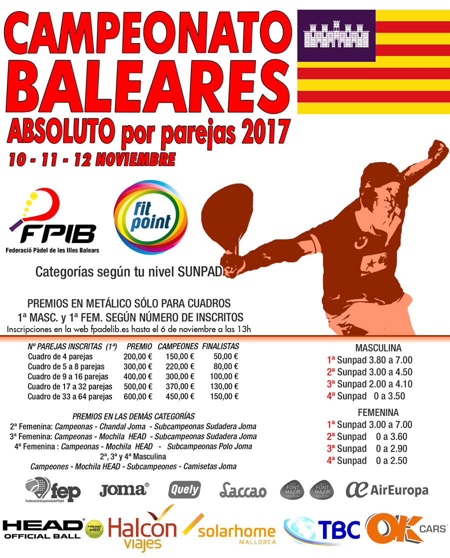 2017 Camp Baleares Absoluto parejas