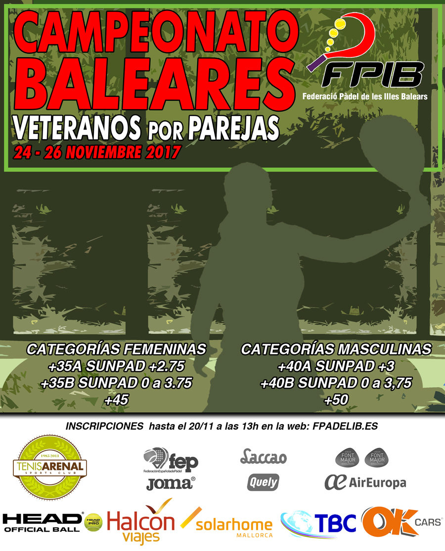 2017 Camp Baleares Veteranos parejas