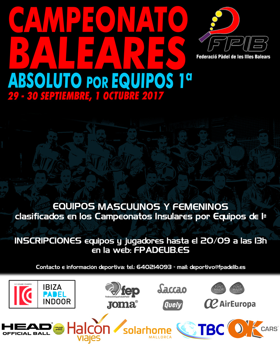 2017 Equipos absoluto Baleares 1
