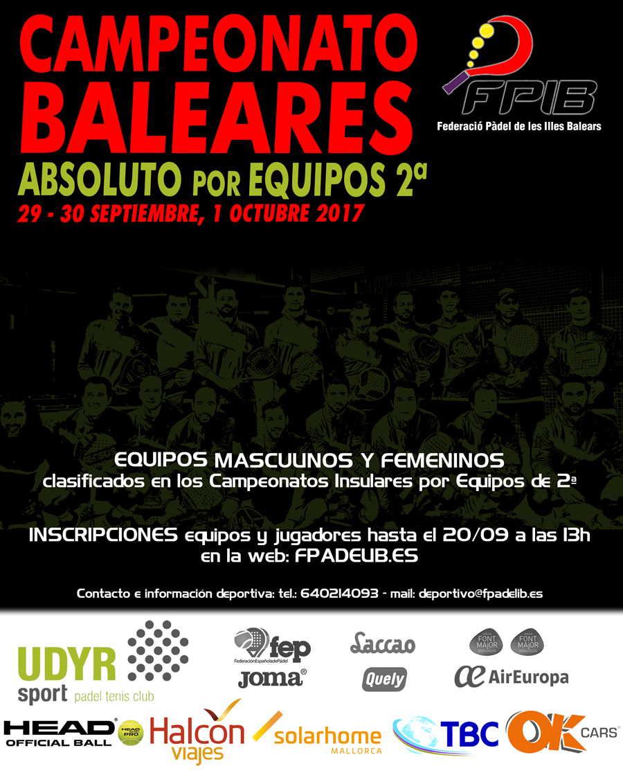 2017 Equipos absoluto Baleares 2
