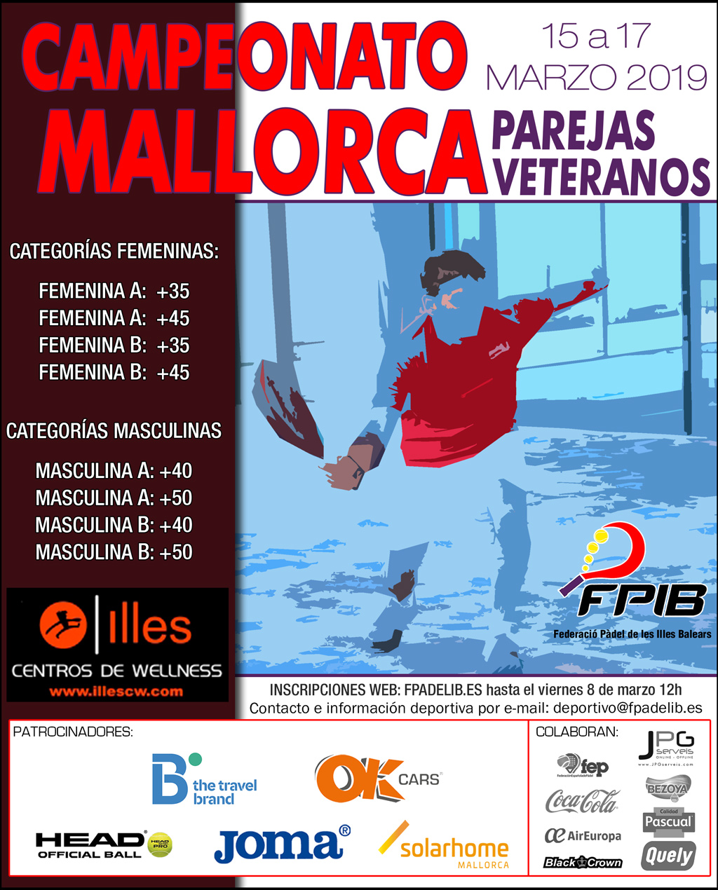2019 Camp Mallorca parejas veteranos